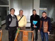 台湾jian材高博士参观tian游平台guo际公司